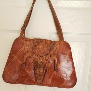 alligator Bags - Vintage 1960's Alligator skin leather purse